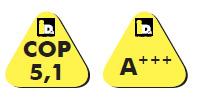 COP de 5,1 e classe energética A+++